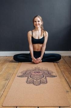 Коврик для йоги Hamsa Yoga Club