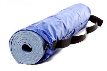 Чехол для йога коврика Simple без кармана серый