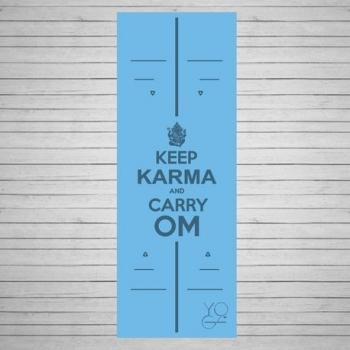Коврик для йоги Karma голубой