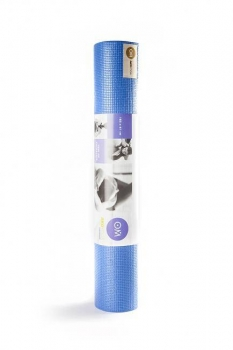 Коврик для йоги Асана Стандарт голубой 4 мм