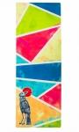 Коврик для йоги City Bird каучук