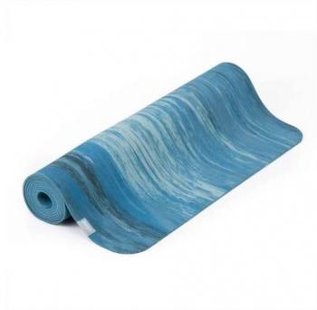 Коврик для йоги Samurai Marbled голубой каучук