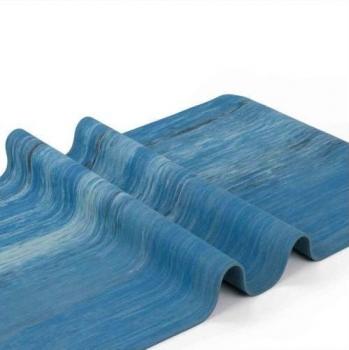 Коврик для йоги Samurai Marbled голубой 185 см