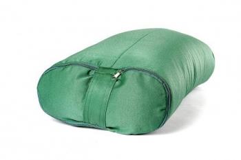 Болстер для йоги прямоугольный зеленый