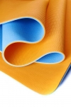 Коврик для йоги Шакти Earth Голубой + Оранжевый_0