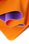 Коврик для йоги Шакти Earth Фиолетовый + Оранжевый_0