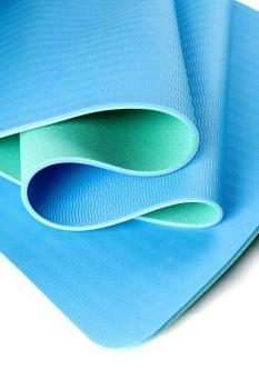 Коврик для йоги Шакти Earth Зеленый + Голубой