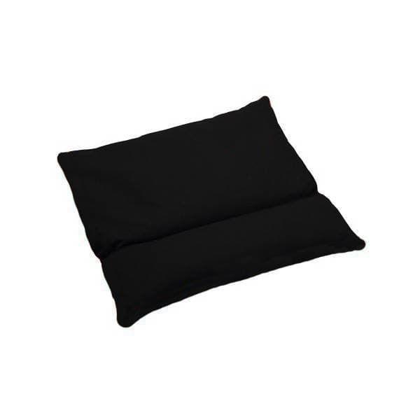 Подушка с валиком под шею черная фото