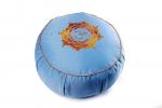 Подушка для медитации Ом голубая