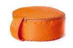 Подушка для медитации spiritual с гречишной лузгой оранжевая