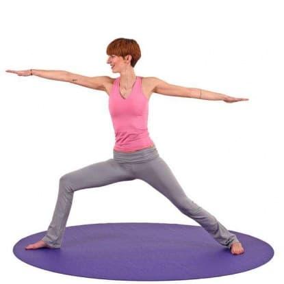 Коврик для йоги Круг Мандалы 4,5 мм