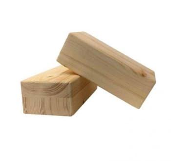 Кирпич для йоги Люкс из сосны шлифованный