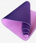 Коврик для йоги TPE 183х61х0,6 розово-фиолетовый (под заказ)