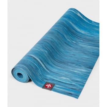 Коврик для йоги Manduka EKO SuperLite Travel Mat 1.5мм Dresden Blue marbled