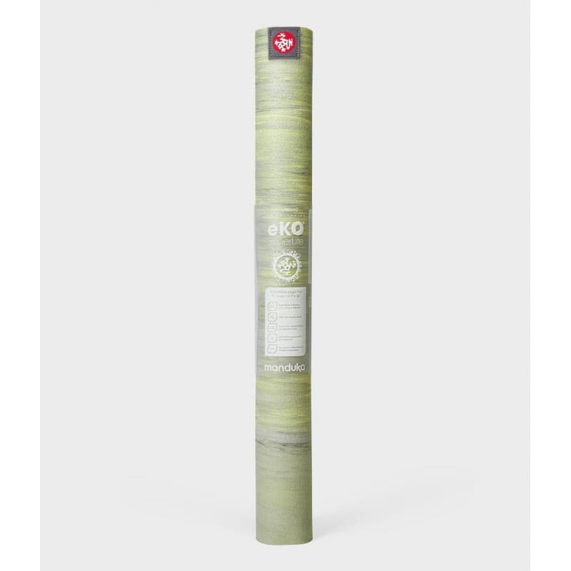 Коврик для йоги Manduka EKO SuperLite Travel Mat 1.5мм Limelight marbled
