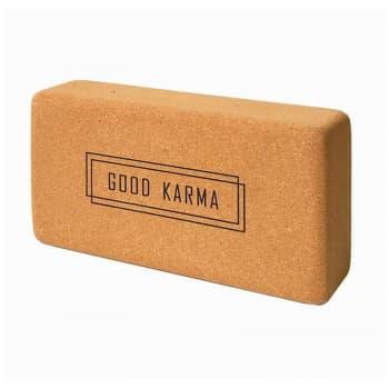 Кирпич для йоги из пробки с принтом Good Karma