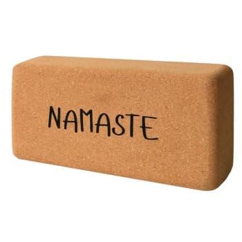 Кирпич для йоги из пробки с принтом Namaste