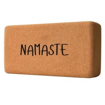 Кирпич для йоги из пробки с принтом Namaste (под заказ из СПб)
