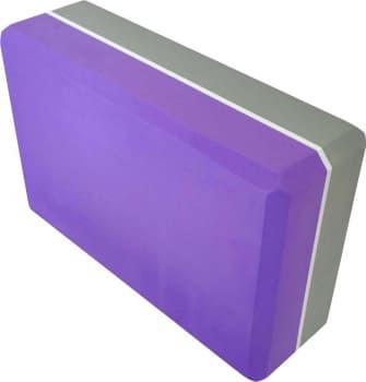 Блок (кирпич) для йоги из EVA пены двухцветный 7,5х15х23