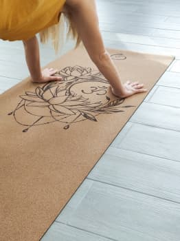 Коврик для йоги Om Moon Yoga Club Пробковое покрытие (под заказ из СПб)