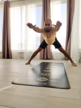 Коврик для йоги CHAKRAS GOLD Yoga Club (под заказ из СПб)
