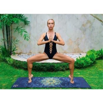 Коврик для йоги Перо павлина Letsmakeyoga купить каучук