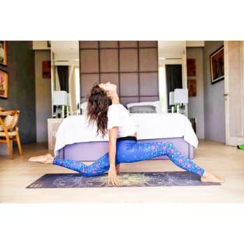 Коврик для йоги Перо павлина Letsmakeyoga с принтом