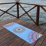 Коврик для йоги Небесный 1,5x68x183 Orizzon из каучука + замша (под заказ)_2