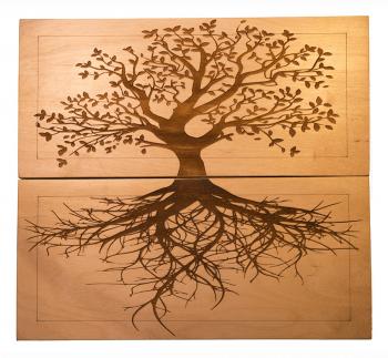 Доска Садху с гвоздями «Древо жизни» медь + цинк заказать