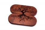 Доска Садху с гвоздями «Древо жизнь» овал медь темное дерево для йоги