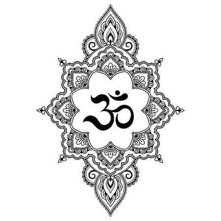 Йога доска Садху с гвоздями Ом (№2) Цинк (под заказ)