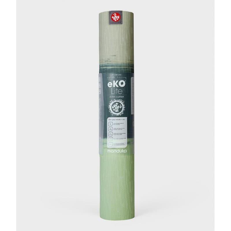 Коврик для йоги EKO Lite Mat Green Ash Stripe 4 мм, 61х180 см Manduka из каучука